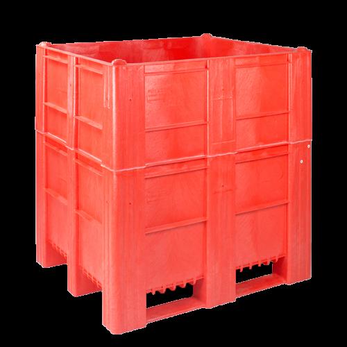 Kunststof maatwerk rode palletbox
