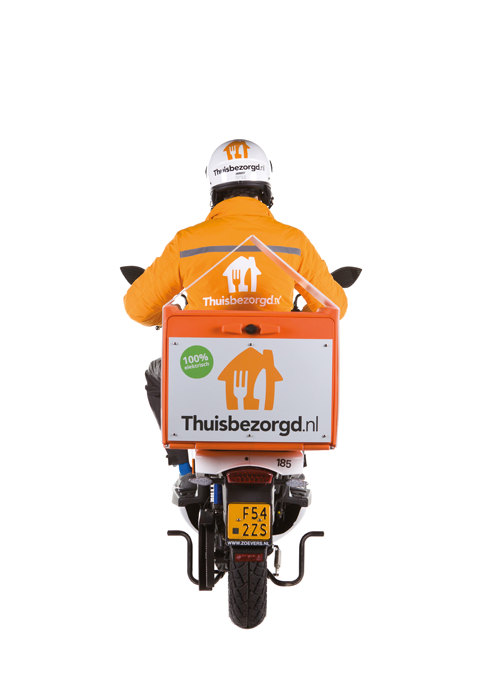 Thuisbezorgd scooter met scooterbox